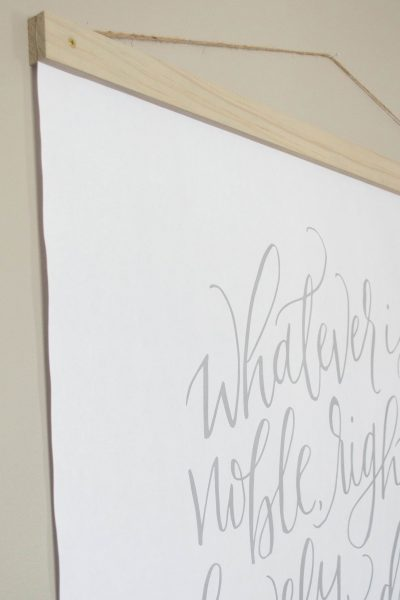 DIY Large Wall Art for less than $20