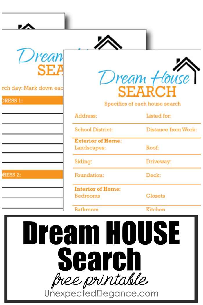 If you've ever had to move, then you know how hard it can be to find the right place! Get these FREE house search printables to help make it easier!