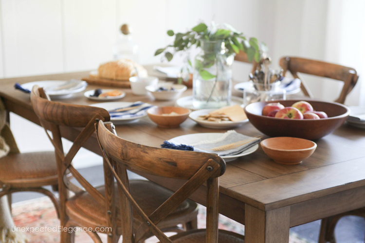 Chances are you'll be hosting a number of dinners throughout the fall season. Here are some inexpensive ways to decorate your fall dining room without breaking the bank!