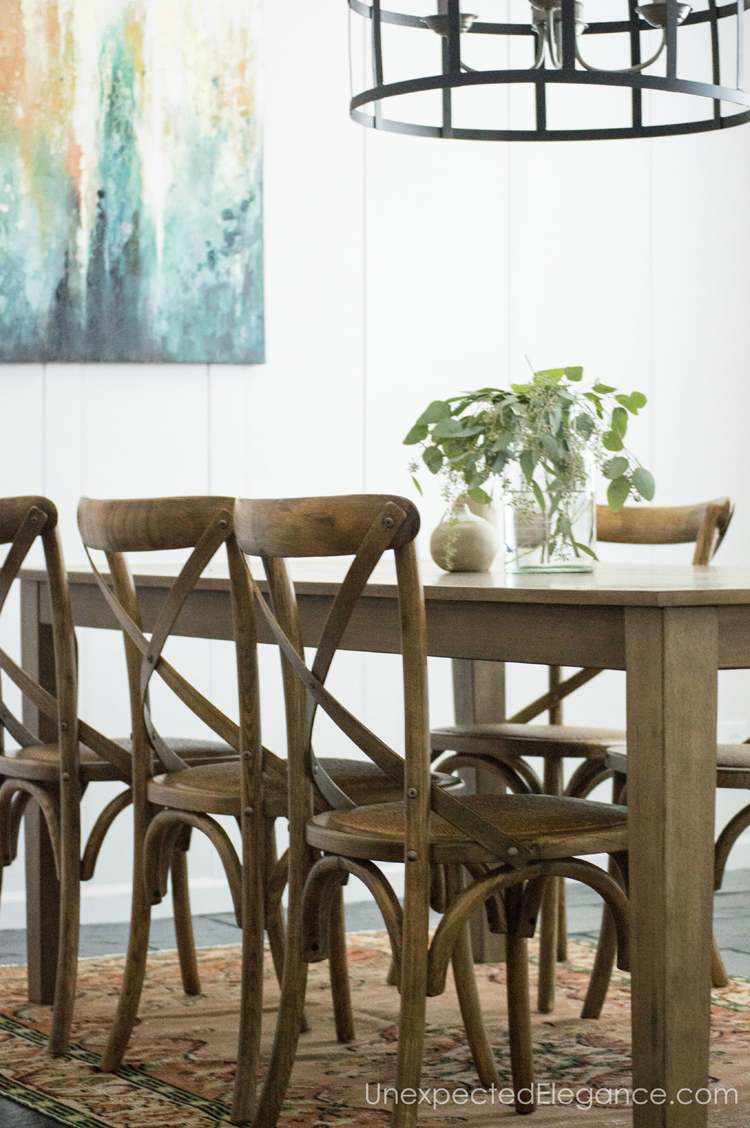 Check out this budget friendly dining room makeover. Get design inspiration, source list and full tutorial for adding texture to your walls.