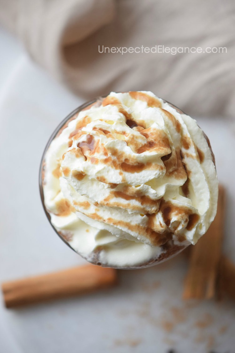A delicious recipe for salted caramel hot chocolate.