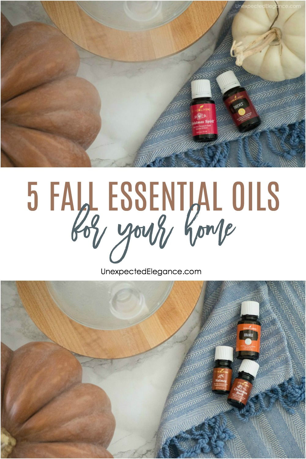 Here are 5 fall essential oils for your home this season, that will create the feel and smell of fall without the artificial scents!
