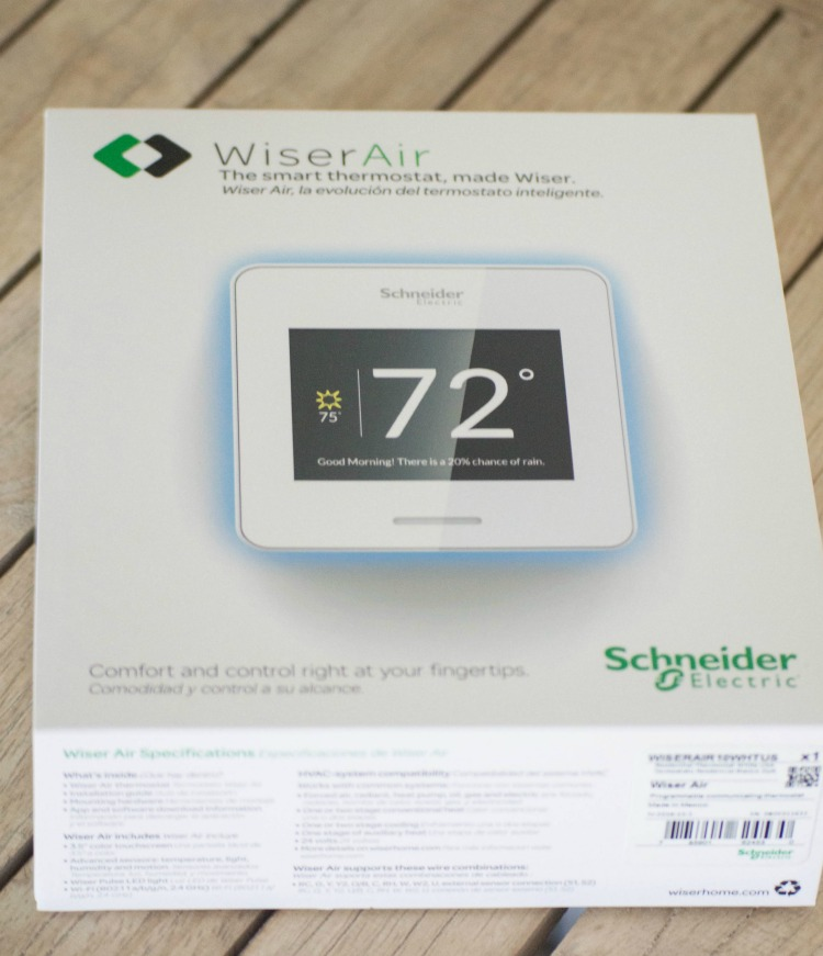 WiserAir smart thermostat.