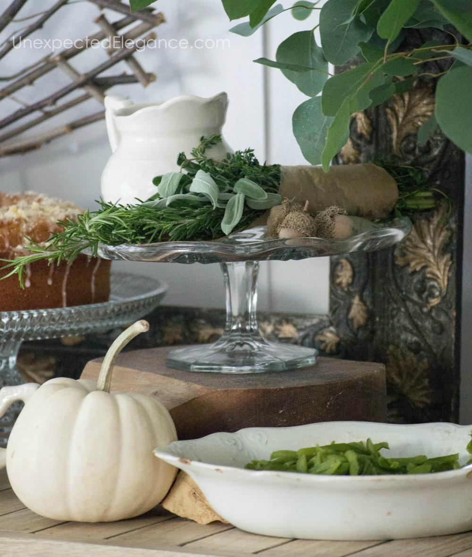 Thanksgiving buffet ideas.