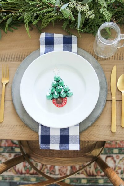 If you have kids, this Kid's Christmas Table Craft is such a fun place setting. It's perfect for adding a simple and festive addition to your meal!