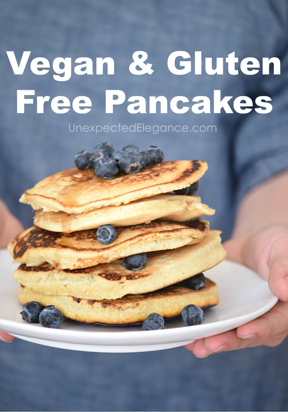 These vegan and gluten free pancakes are so delicious your family will love them. They are perfect for a special breakfast! Modify them to make paleo.