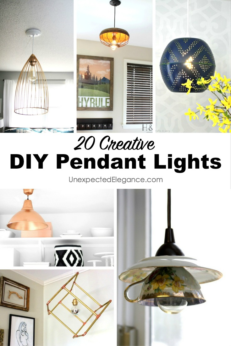 Have you been on the hunt for a unique light fixture that doesn't cost a small fortune? Check out these 20 DIY pendant lights and get something unique at a fraction of the cost!