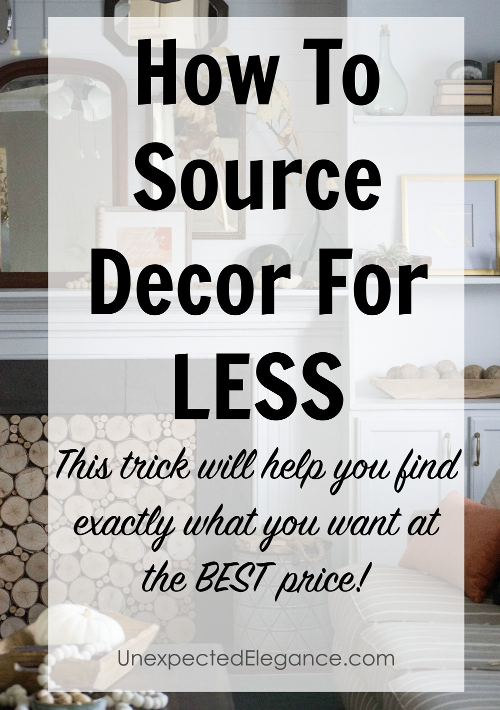 Have you ever seen a photo of a room and wanted to purchase something, but weren't sure where to buy it? Find out this AMAZING tip to get that PERFECT piece at the very best price!!