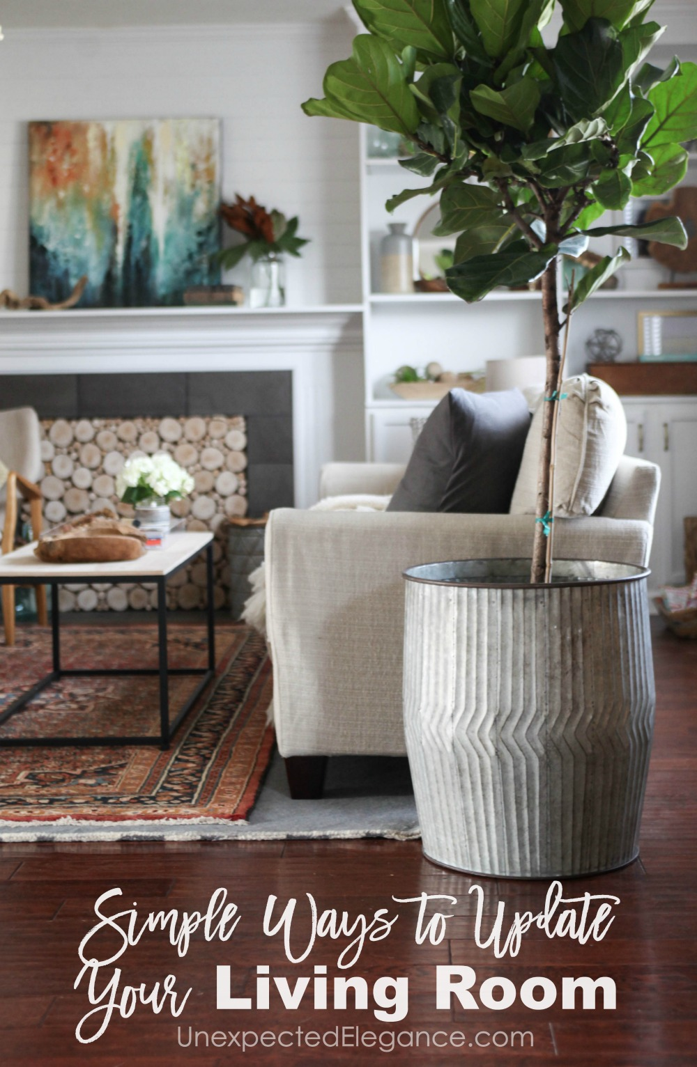 Does your living room need some sprucing up? Check out these simple ways to update your living room without spending a lot of money!