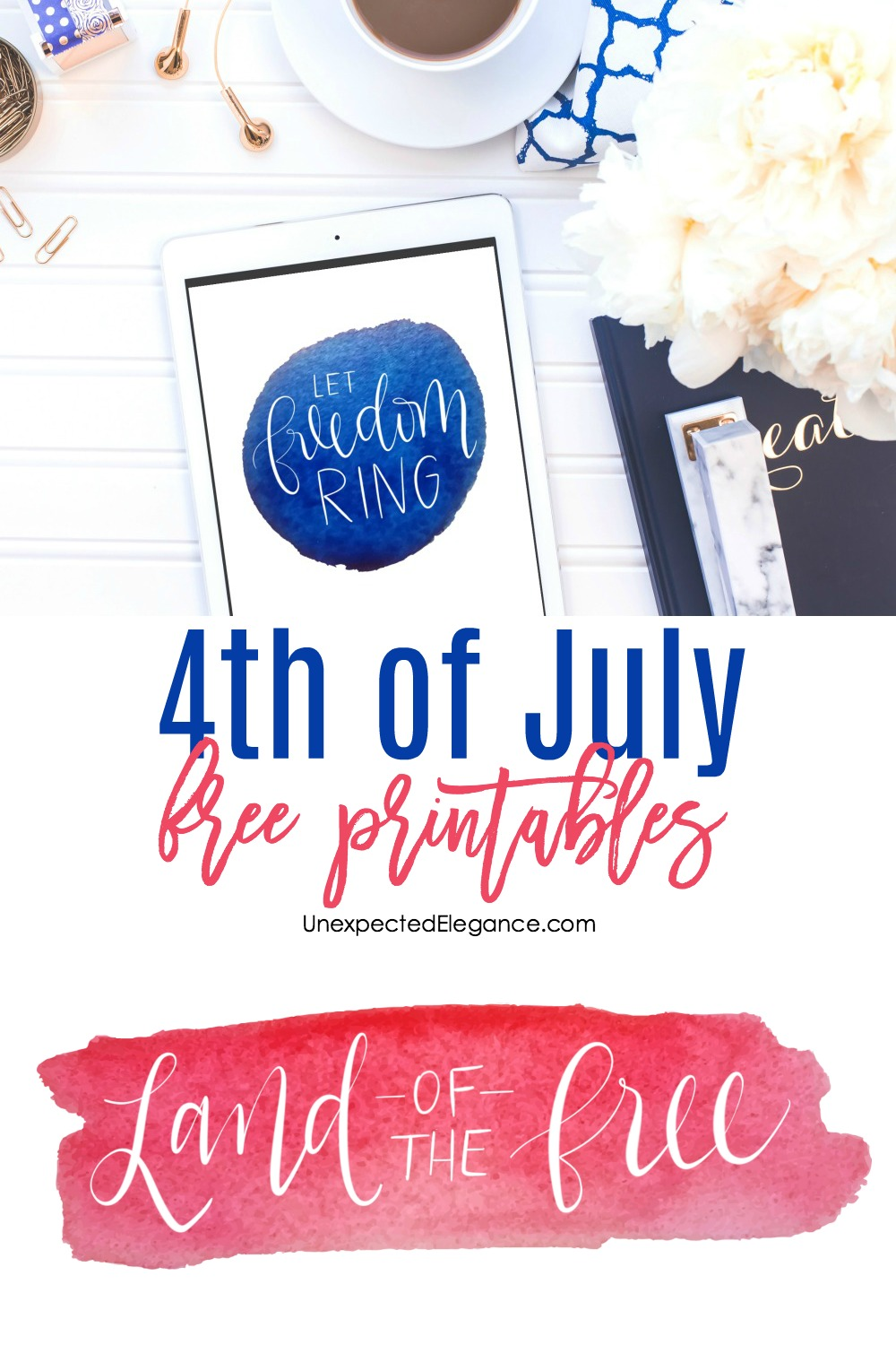 Get these 4th of July FREE printables today! This is a super easy way to add a little bit of festive decor to your home, if you are having a party! Click HERE now to download.