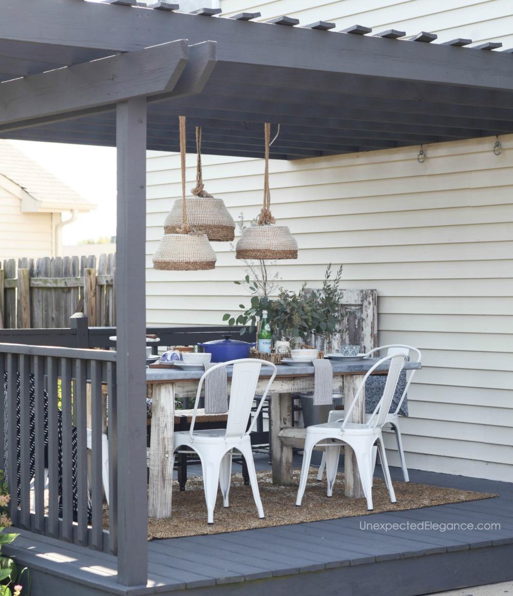 DIY Outdoor Pendant Light