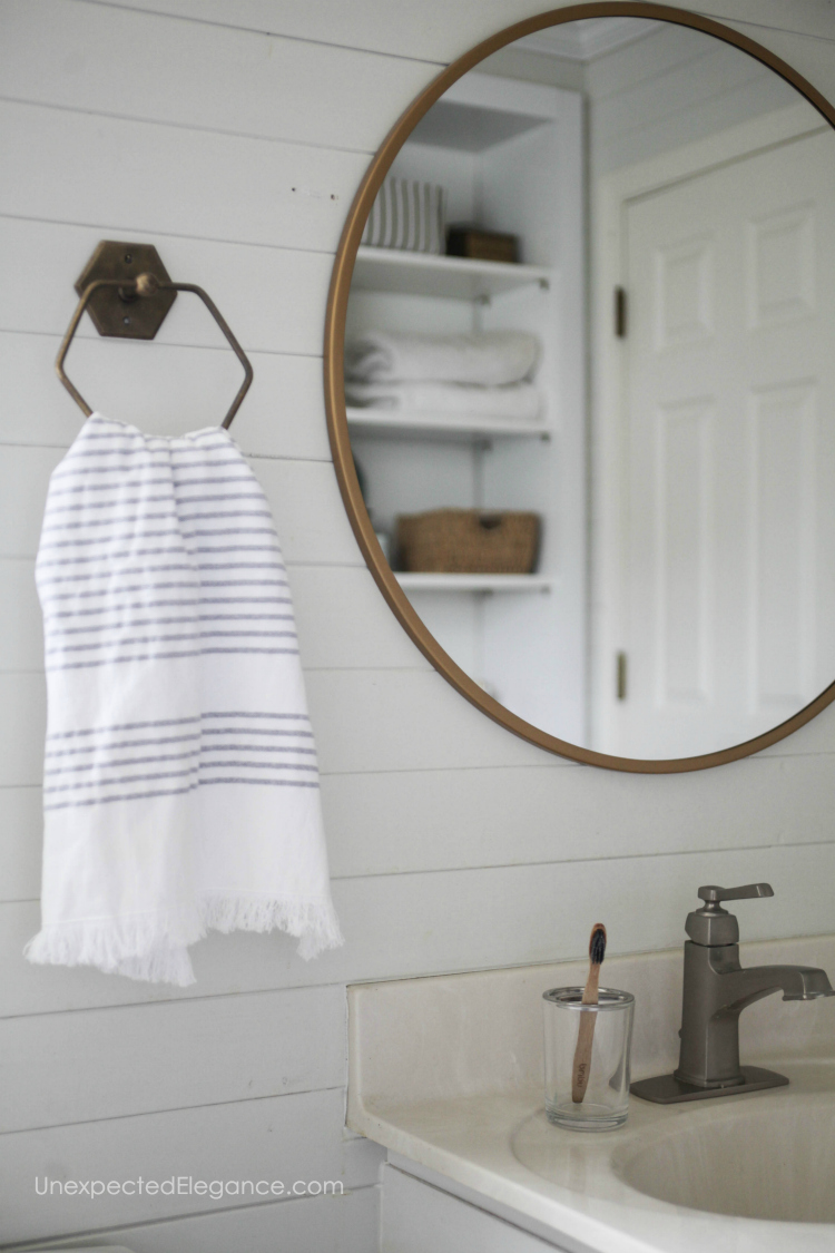 Bathroom design details on a budget!