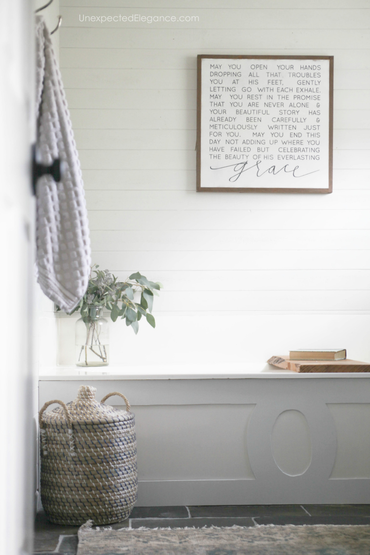 Get some small bathroom ideas on a budget!