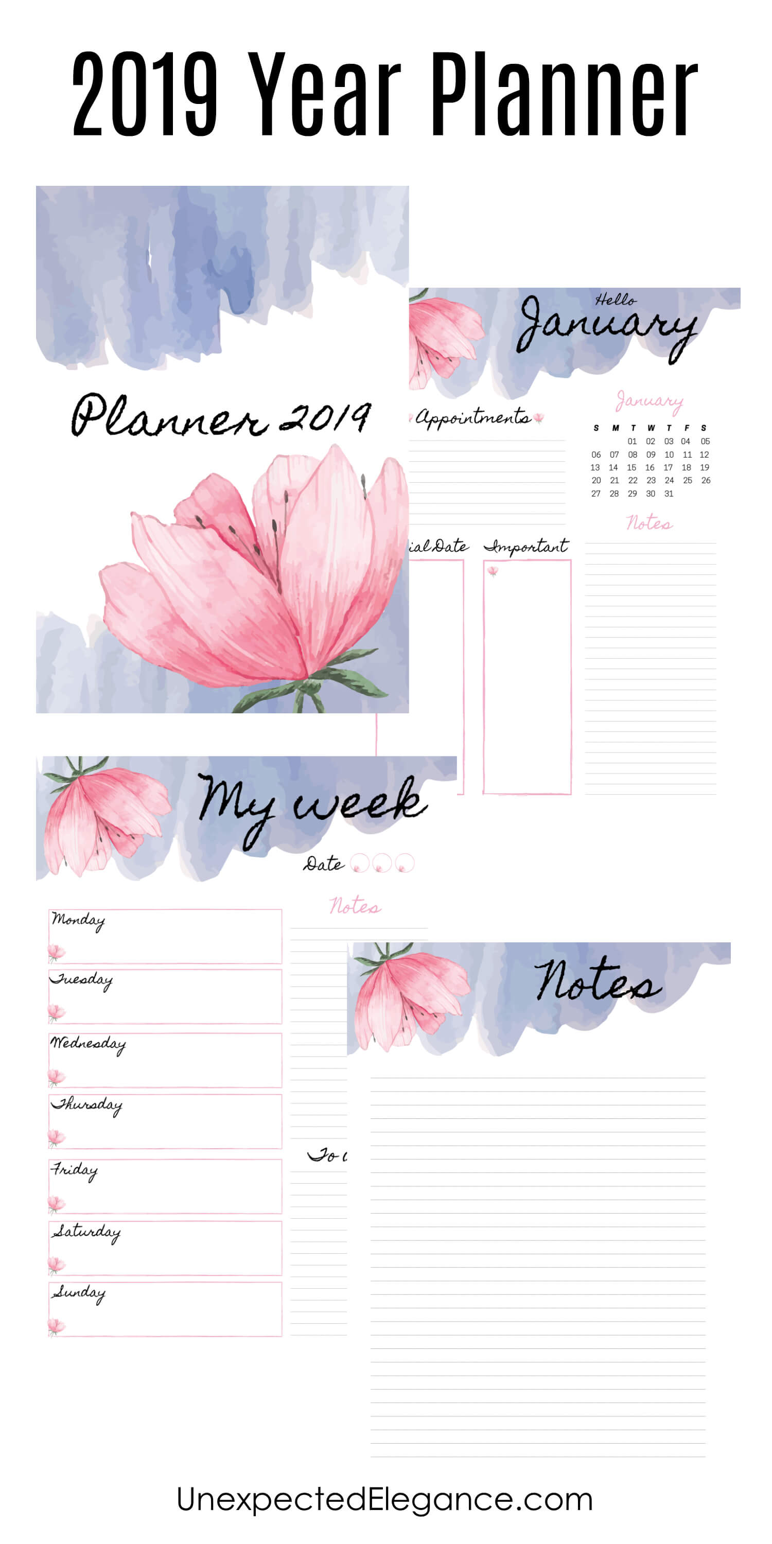 Plan for your best year yet! Get some tips for how to stick to your goals and download a FREE 2019 planner to keep track of everything.