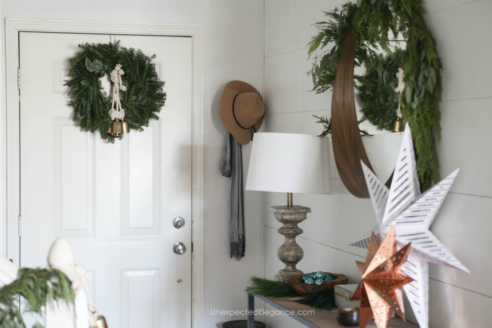 Holiday decor that is simple.