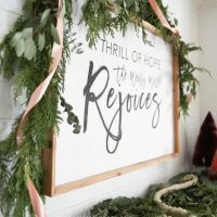 Check out this easy DIY holiday art. You can change it out seasonally to fit the holiday or just for fun throughout the year!