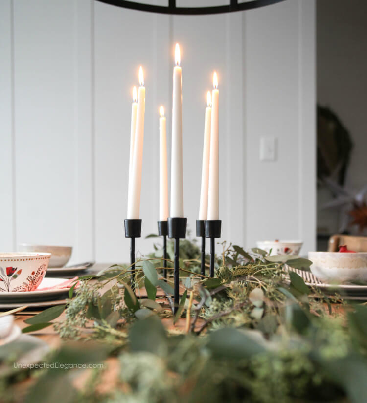 Simple decor can still give your table a fun and festive feel for Christmas.