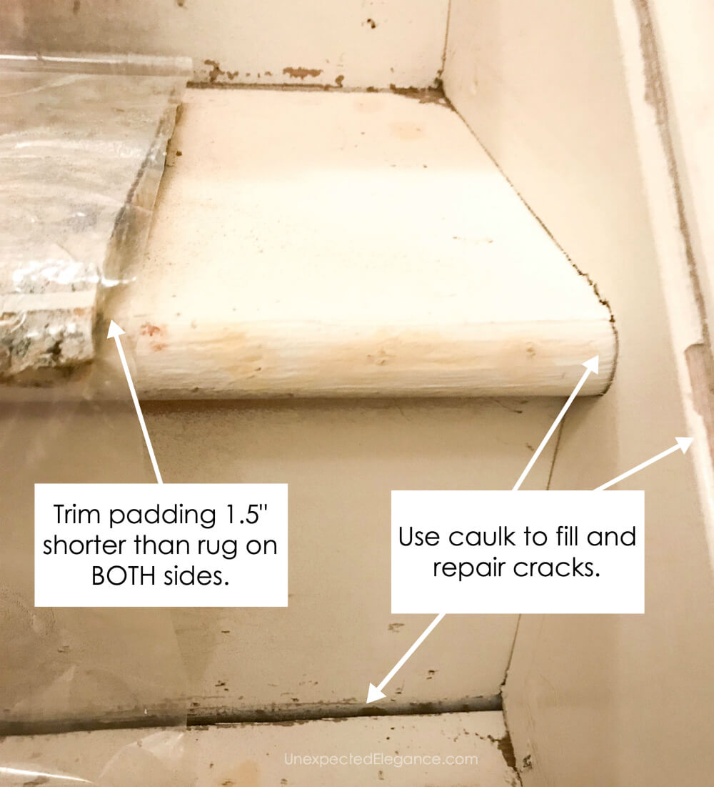 How to for replacing carpeted stairs with a runner.