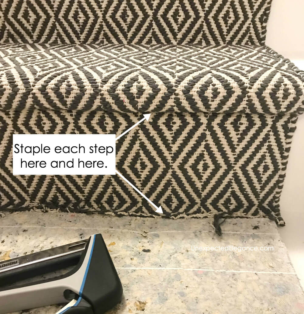 How To Replace Carpet With An Inexpensive Stair Runner For