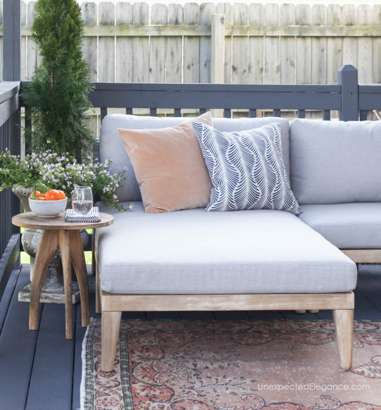 Outdoor patio makeover.  #outdoorsectional