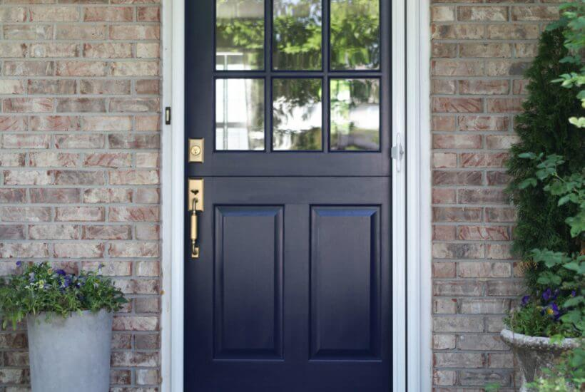 If you are looking for a cost-effective Dutch door with screen, check out this great solution. It's an inexpensive retractable screen you can install yourself.