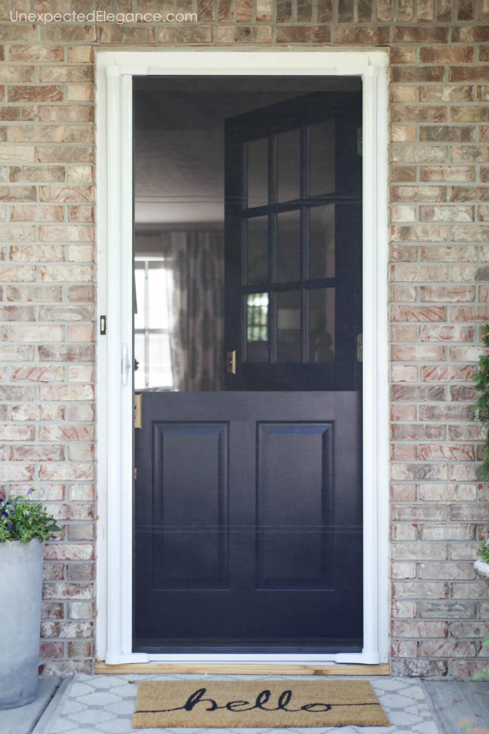 Dutch Door With Screen That Is Retractable So You Don T See It