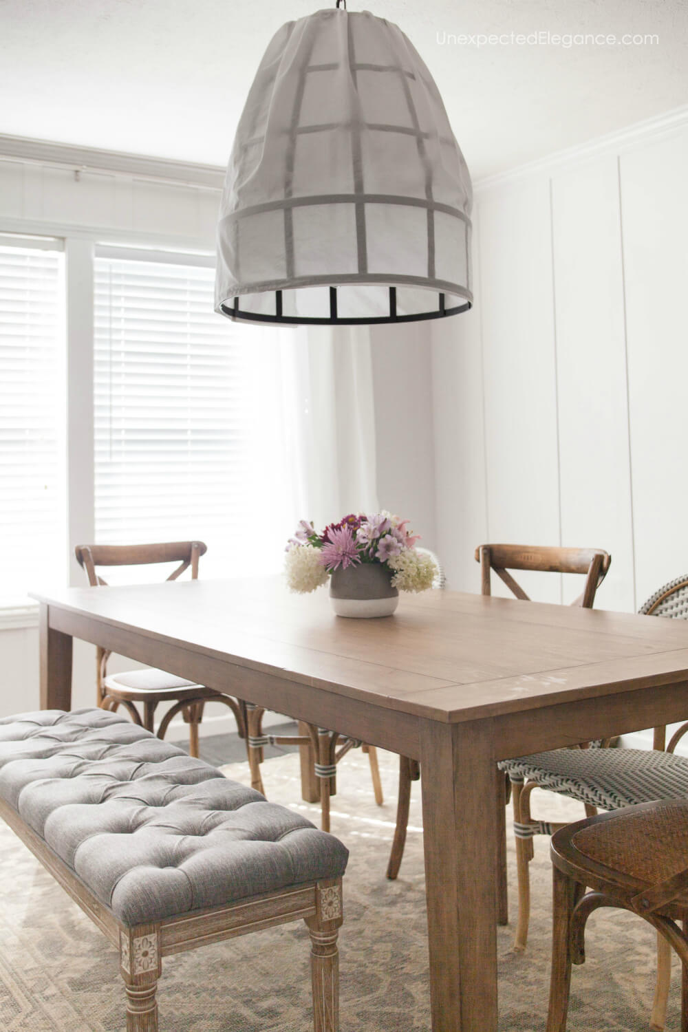 Check out this simple and casual dining room transformation!