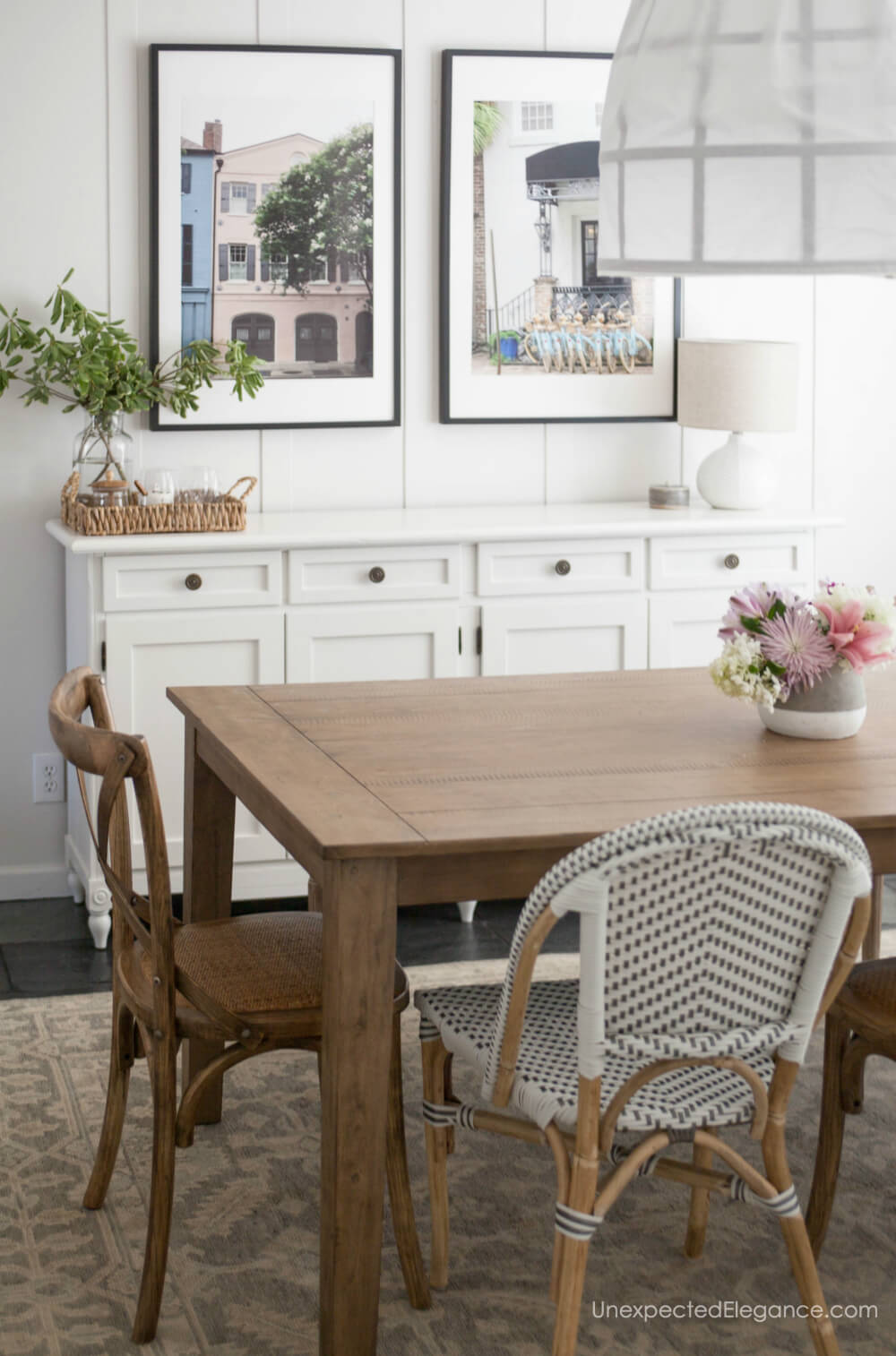 Inspiration from this farmhouse style dining room transformation!