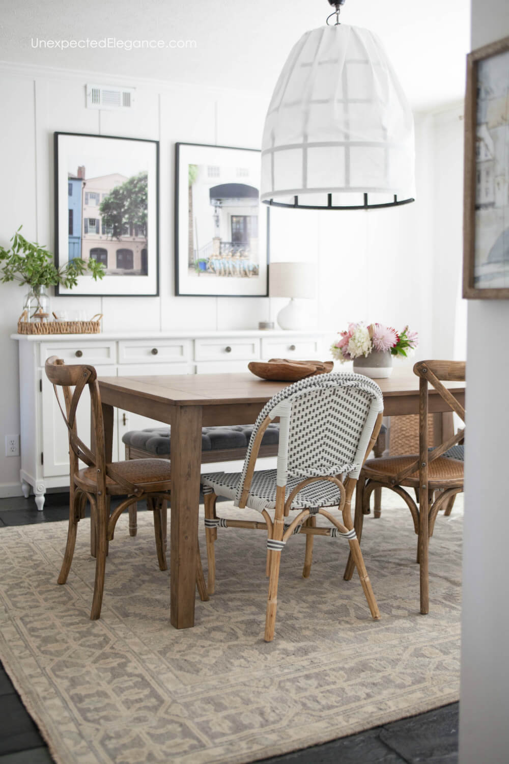 Get all the details about this casual dining room makeover.