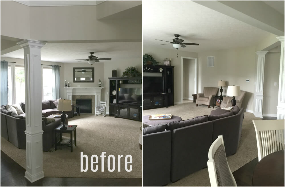 Living Room Transformation Using Sectional Sofa Placement