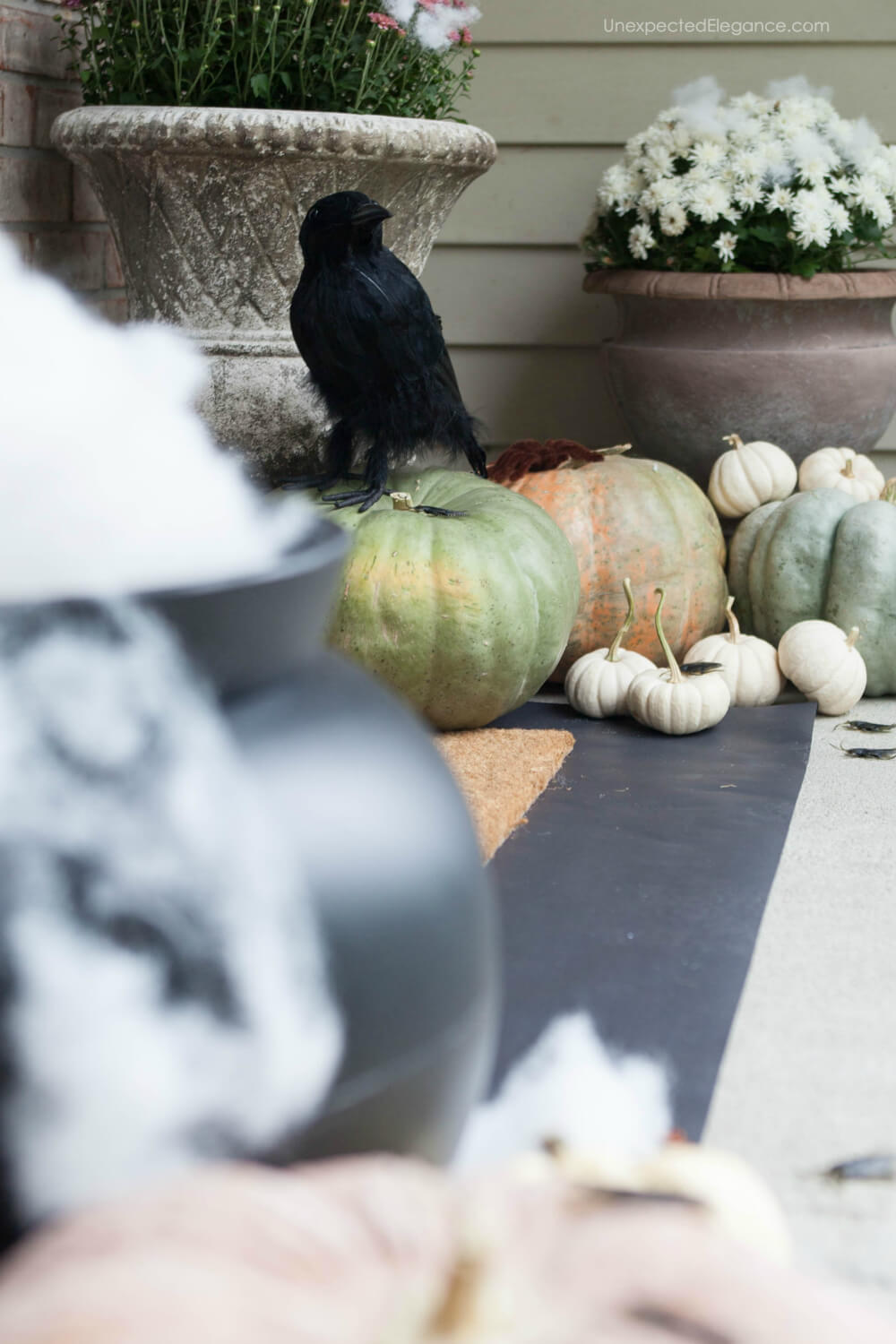 Halloween themed porch decor!