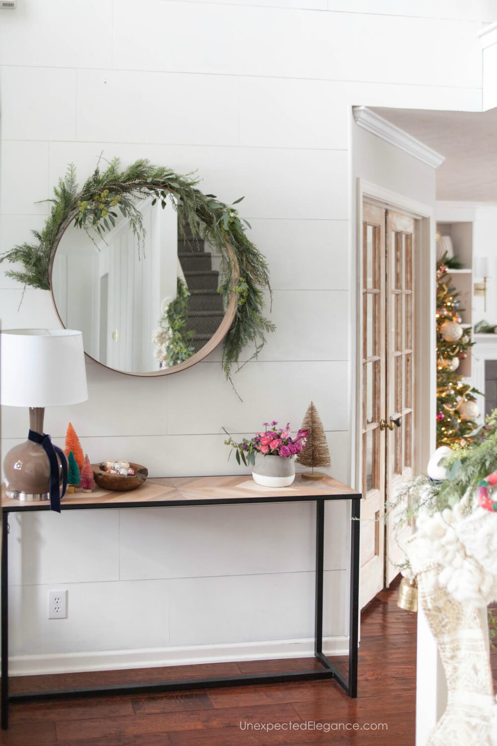 What items to purchase for decorating the hall for Christmas. #holidaydecor #christmasdecor