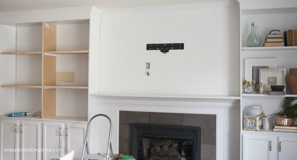 How to hang your tv over the mantel and hide the cords!