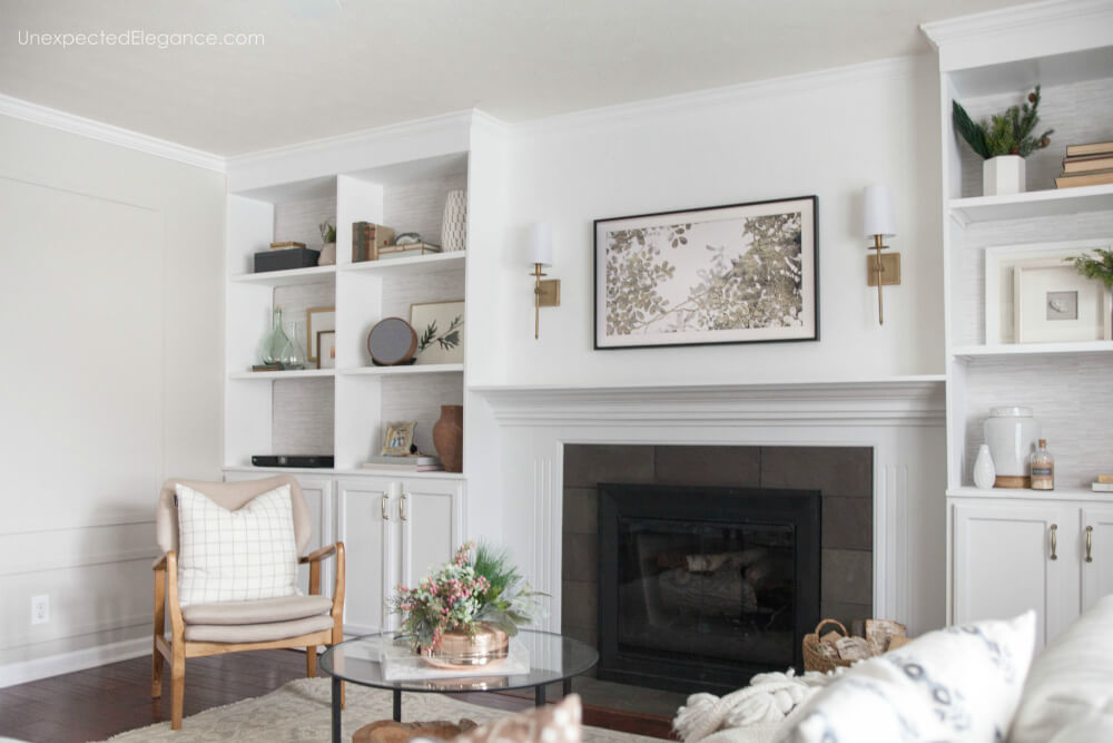 See how to hang the Samsung Frame TV over the mantel and have no ugly cords showing!