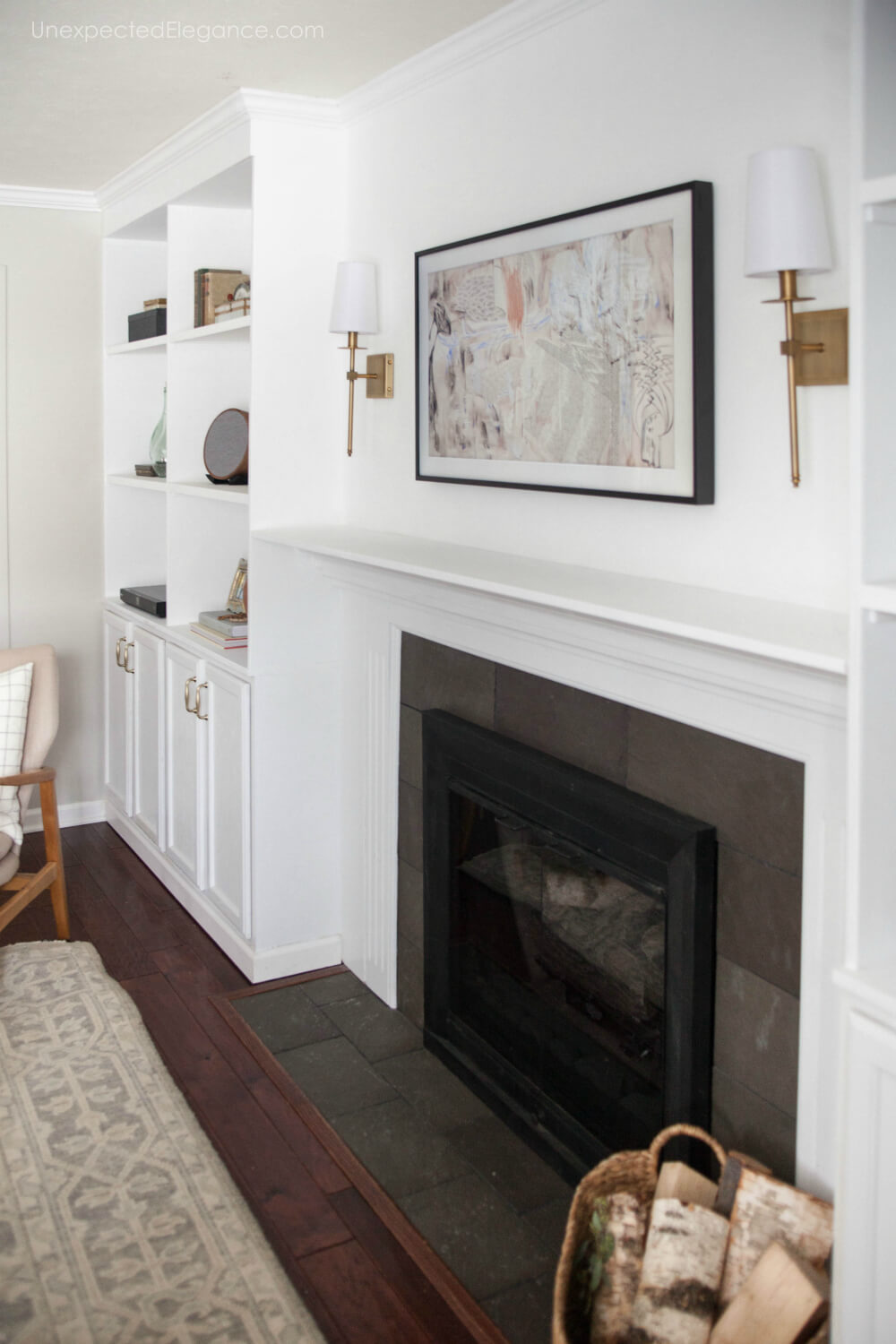 How to hang a TV over the fireplace and hide the cords.
