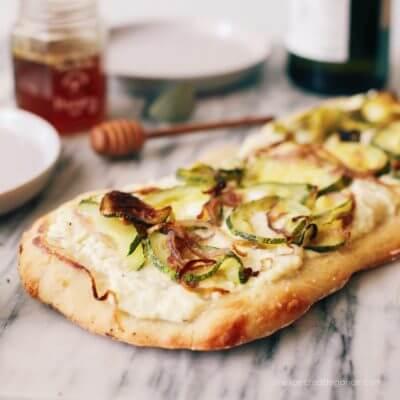 Oven Roasted Zucchini Flatbread