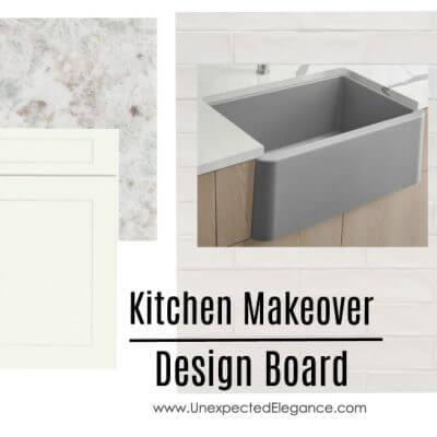 Kitchen Makeover Design Board