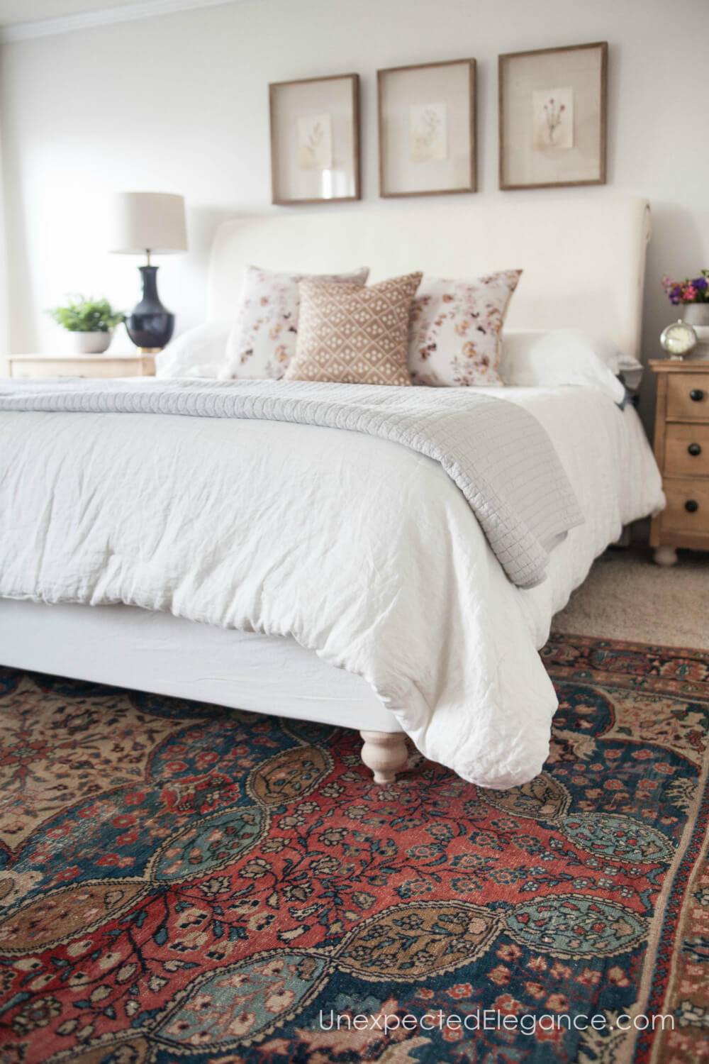 See how simple it is to get the bed you want without spending a fortune. This simple bed frame transformation is a great solution for high style on a budget!