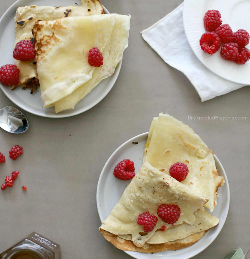 Try this delicious crepe recipe! It makes a great addition to a Sunday brunch!