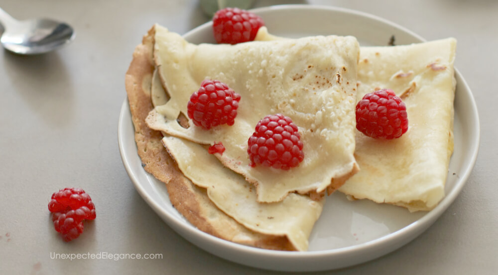 Give this delicate, crepe a try!!
