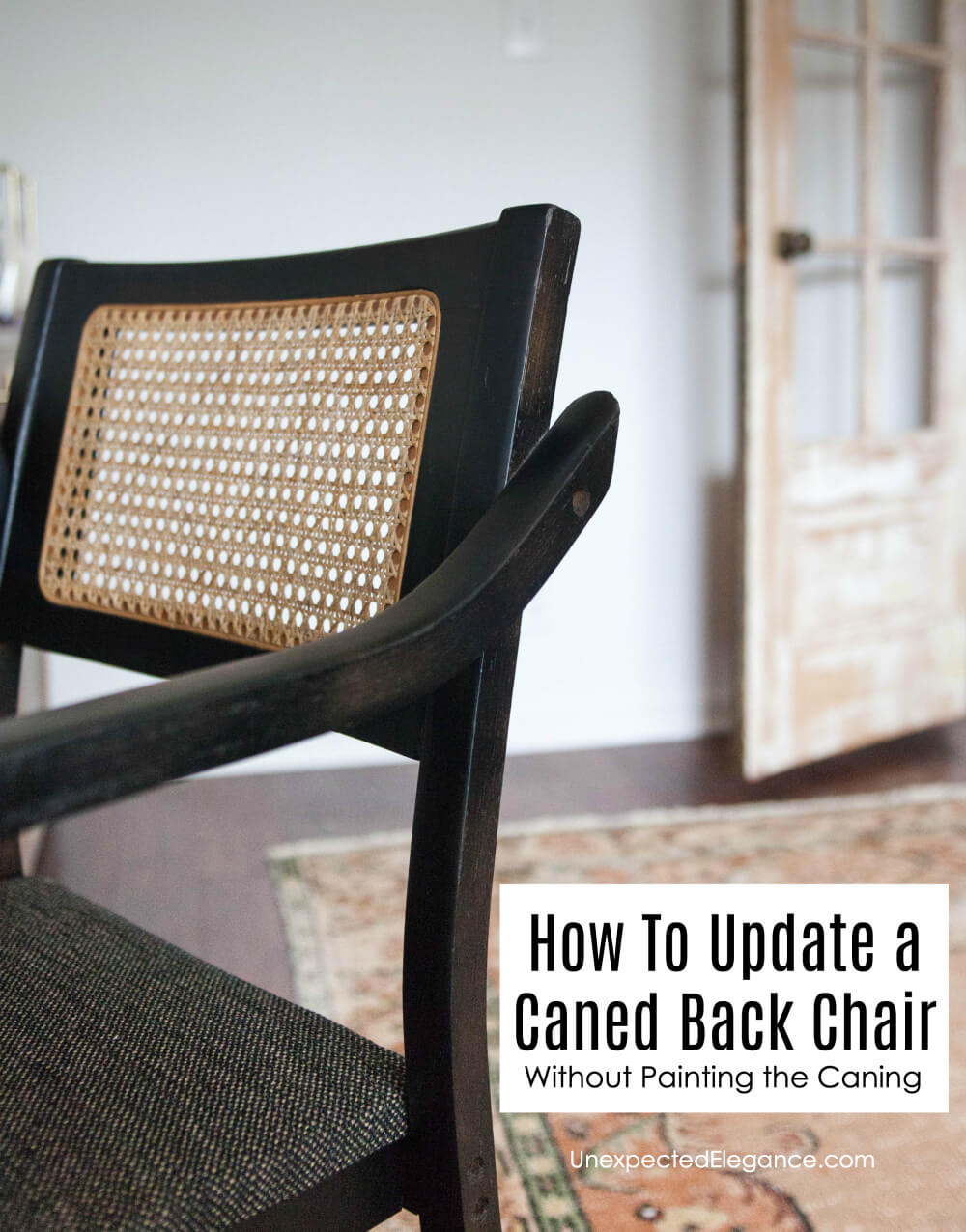 Check this incredibly easy way for how to spray paint a cane chair, without painting the cane! It will take you minutes to prep and the results are beautiful!