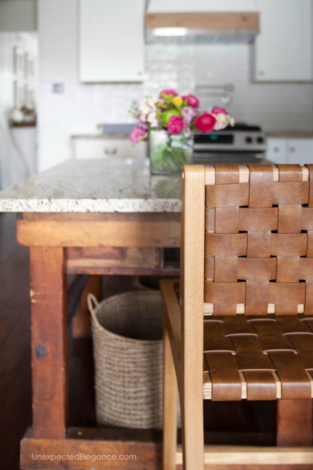 How to alter a barstool to make it fit under a kitchen counter.
