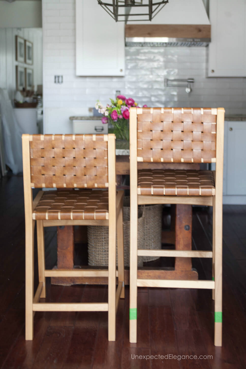 Quick and easy way to cut off the legs of your barstool to make it counter height.