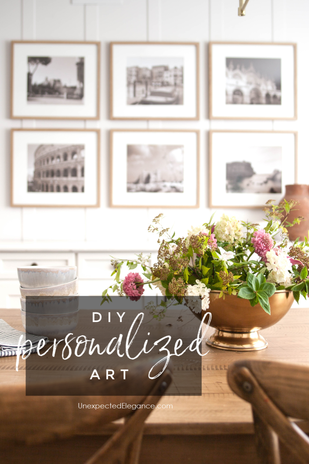Check out how to create simple DIY personalized art.  This is an inexpensive way to add personality to your home without breaking the bank!